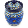 5-inch Stoneware Jar with Lid with Opening - Polmedia Polish Pottery H3196G