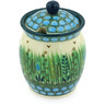 5-inch Stoneware Jar with Lid with Opening - Polmedia Polish Pottery H5271G
