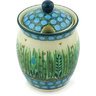 5-inch Stoneware Jar with Lid with Opening - Polmedia Polish Pottery H6545G