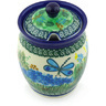 5-inch Stoneware Jar with Lid with Opening - Polmedia Polish Pottery H6554G