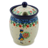 5-inch Stoneware Jar with Lid with Opening - Polmedia Polish Pottery H8457J