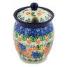 5-inch Stoneware Jar with Lid with Opening - Polmedia Polish Pottery H8461J
