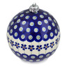 5-inch Stoneware Ornament Christmas Ball - Polmedia Polish Pottery H1413L