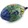 5-inch Stoneware Ornament Christmas Ball - Polmedia Polish Pottery H2252C