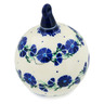5-inch Stoneware Ornament Christmas Ball - Polmedia Polish Pottery H3916B