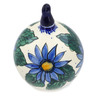 5-inch Stoneware Ornament Christmas Ball - Polmedia Polish Pottery H3918B
