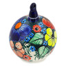 5-inch Stoneware Ornament Christmas Ball - Polmedia Polish Pottery H3920B