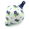 5-inch Stoneware Ornament Christmas Ball - Polmedia Polish Pottery H4252I
