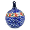 5-inch Stoneware Ornament Christmas Ball - Polmedia Polish Pottery H5304I