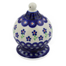 5-inch Stoneware Ornament Christmas Ball - Polmedia Polish Pottery H8996D