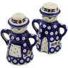 5-inch Stoneware Salt and Pepper Set - Polmedia Polish Pottery H2810K