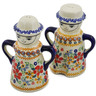 5-inch Stoneware Salt and Pepper Set - Polmedia Polish Pottery H2852K