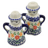 5-inch Stoneware Salt and Pepper Set - Polmedia Polish Pottery H2868K
