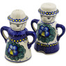 5-inch Stoneware Salt and Pepper Set - Polmedia Polish Pottery H2870K