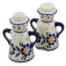 5-inch Stoneware Salt and Pepper Set - Polmedia Polish Pottery H2924K