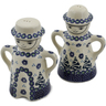 5-inch Stoneware Salt and Pepper Set - Polmedia Polish Pottery H2929K
