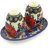 5-inch Stoneware Salt and Pepper Set - Polmedia Polish Pottery H3382F