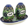 5-inch Stoneware Salt and Pepper Set - Polmedia Polish Pottery H3383F