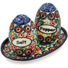 5-inch Stoneware Salt and Pepper Set - Polmedia Polish Pottery H3500F