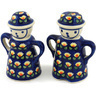 5-inch Stoneware Salt and Pepper Set - Polmedia Polish Pottery H5349C