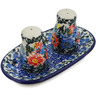 5-inch Stoneware Salt and Pepper Set - Polmedia Polish Pottery H5539L