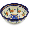 5-inch Stoneware Scalloped Bowl - Polmedia Polish Pottery H3940J