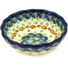 5-inch Stoneware Scalloped Bowl - Polmedia Polish Pottery H7223D
