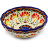 5-inch Stoneware Scalloped Bowl - Polmedia Polish Pottery H8094I