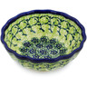 5-inch Stoneware Scalloped Bowl - Polmedia Polish Pottery H8306C