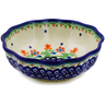 5-inch Stoneware Scalloped Fluted Bowl - Polmedia Polish Pottery H0911K