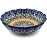 5-inch Stoneware Scalloped Fluted Bowl - Polmedia Polish Pottery H3269C