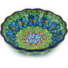 5-inch Stoneware Scalloped Fluted Bowl - Polmedia Polish Pottery H5068G