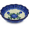 5-inch Stoneware Scalloped Fluted Bowl - Polmedia Polish Pottery H5687G