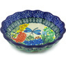 5-inch Stoneware Scalloped Fluted Bowl - Polmedia Polish Pottery H6026G