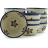 5-inch Stoneware Set of 12 Bowls - Polmedia Polish Pottery H3002I
