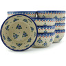 5-inch Stoneware Set of 12 Bowls - Polmedia Polish Pottery H3003I
