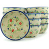 5-inch Stoneware Set of 12 Bowls - Polmedia Polish Pottery H3004I
