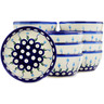 5-inch Stoneware Set of 12 Bowls - Polmedia Polish Pottery H3671J