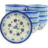 5-inch Stoneware Set of 12 Bowls - Polmedia Polish Pottery H5282J