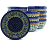 5-inch Stoneware Set of 12 Bowls - Polmedia Polish Pottery H5286J