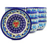 5-inch Stoneware Set of 12 Bowls - Polmedia Polish Pottery H5288J