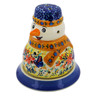 5-inch Stoneware Snowman Candle Holder - Polmedia Polish Pottery H2936K