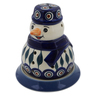 5-inch Stoneware Snowman Candle Holder - Polmedia Polish Pottery H6520K