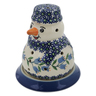 5-inch Stoneware Snowman Candle Holder - Polmedia Polish Pottery H6542K