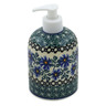5-inch Stoneware Soap Dispenser - Polmedia Polish Pottery H3548B