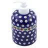 5-inch Stoneware Soap Dispenser - Polmedia Polish Pottery H9261A