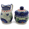 5-inch Stoneware Sugar and Creamer Set - Polmedia Polish Pottery H0660L