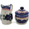 5-inch Stoneware Sugar and Creamer Set - Polmedia Polish Pottery H0661L