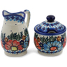 5-inch Stoneware Sugar and Creamer Set - Polmedia Polish Pottery H0662L
