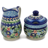 5-inch Stoneware Sugar and Creamer Set - Polmedia Polish Pottery H0664L
